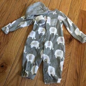 🆕PREEMIE🆕  Gray/White Footless Pajama Set